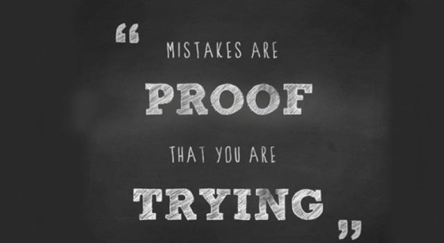 Συμφιλιώσου με τα λάθη σου